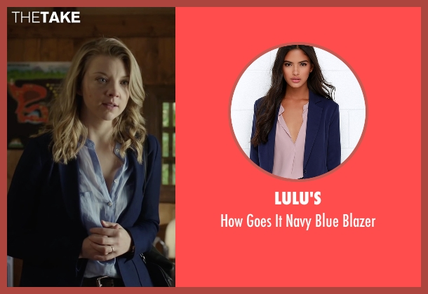 Lulu's blue blazer from The Forest seen with Natalie Dormer (Sara)