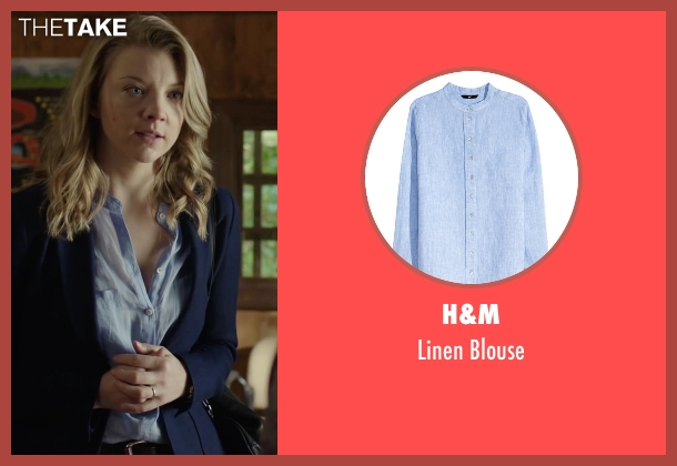 H&M blue blouse from The Forest seen with Natalie Dormer (Sara)