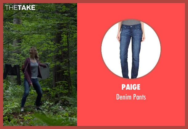 Paige blue pants from The Forest seen with Natalie Dormer (Sara)