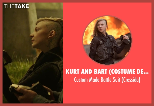 Kurt and Bart (Costume Designer) suit from The Hunger Games: Mockingjay - Part 2 seen with Natalie Dormer (Cressida)