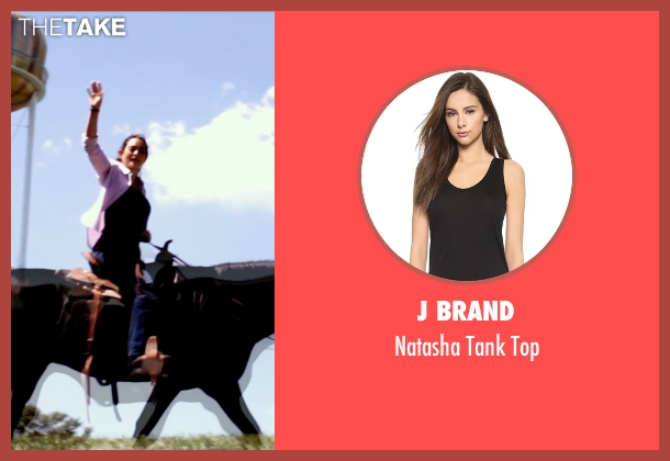J Brand black top from Self/Less seen with Natalie Martinez (Madeline)