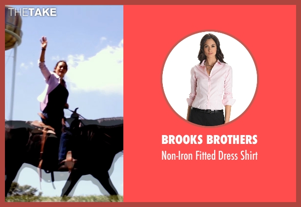 Brooks Brothers pink shirt from Self/Less seen with Natalie Martinez (Madeline)