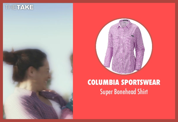Columbia Sportswear purple shirt from Self/Less seen with Natalie Martinez (Madeline)