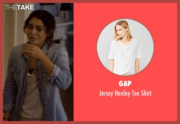 Gap white shirt from Self/Less seen with Natalie Martinez (Madeline)