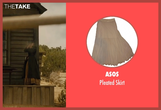 Asos beige skirt from Jane Got A Gun seen with Natalie Portman (Jane Hammond)