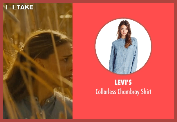 Levi's blue shirt from Jane Got A Gun seen with Natalie Portman (Jane Hammond)