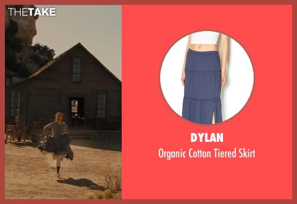 Dylan blue skirt from Jane Got A Gun seen with Natalie Portman (Jane Hammond)