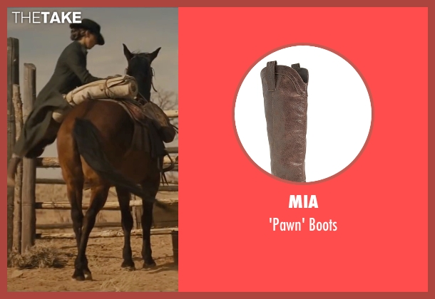 Mia brown boots from Jane Got A Gun seen with Natalie Portman (Jane Hammond)