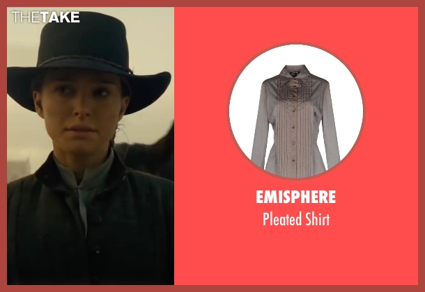Emisphere gray shirt from Jane Got A Gun seen with Natalie Portman (Jane Hammond)