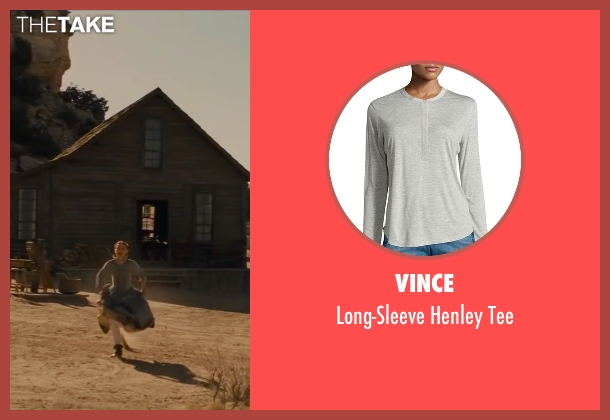 Vince gray tee from Jane Got A Gun seen with Natalie Portman (Jane Hammond)