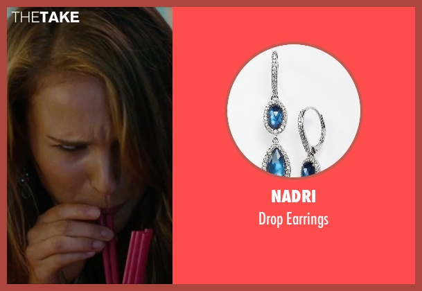 Nadri blue earrings from No Strings Attached seen with Natalie Portman (Emma)