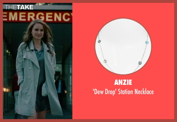 Anzie blue necklace from No Strings Attached seen with Natalie Portman (Emma)