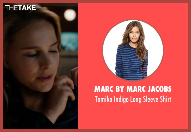 Marc by Marc Jacobs blue shirt from No Strings Attached seen with Natalie Portman (Emma)