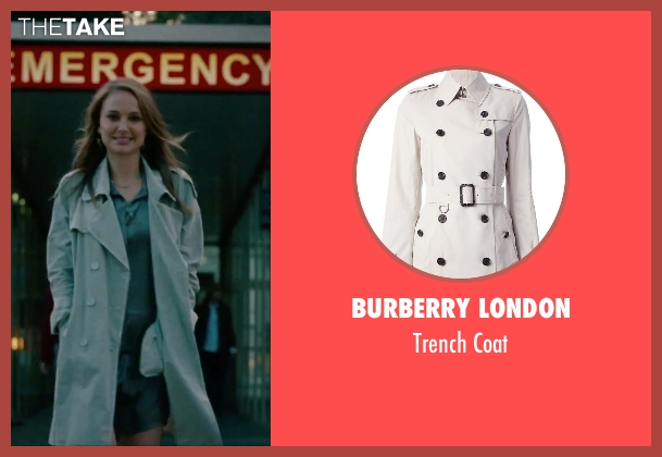 Burberry London gray coat from No Strings Attached seen with Natalie Portman (Emma)