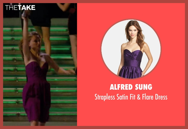 Alfred Sung purple dress from No Strings Attached seen with Natalie Portman (Emma)