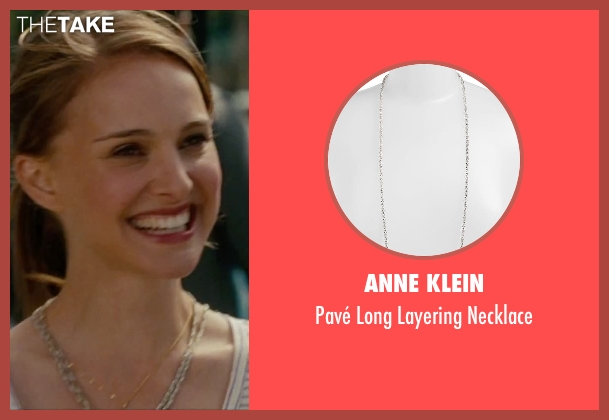 Anne Klein silver necklace from No Strings Attached seen with Natalie Portman (Emma)