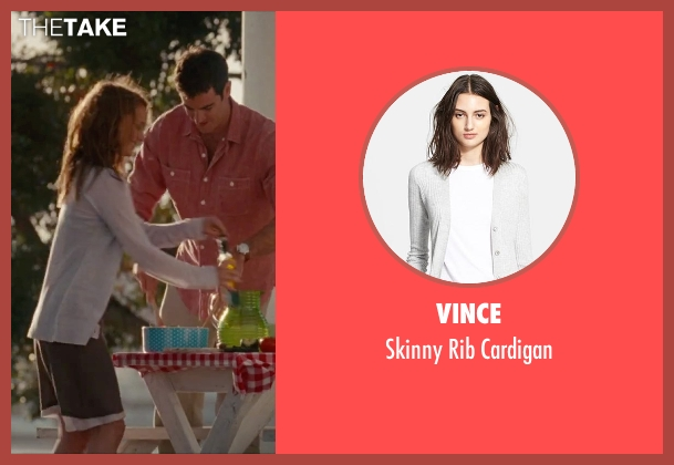 Vince white cardigan from No Strings Attached seen with Natalie Portman (Emma)