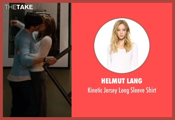 Helmut Lang white shirt from No Strings Attached seen with Natalie Portman (Emma)
