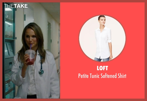 Loft white shirt from No Strings Attached seen with Natalie Portman (Emma)