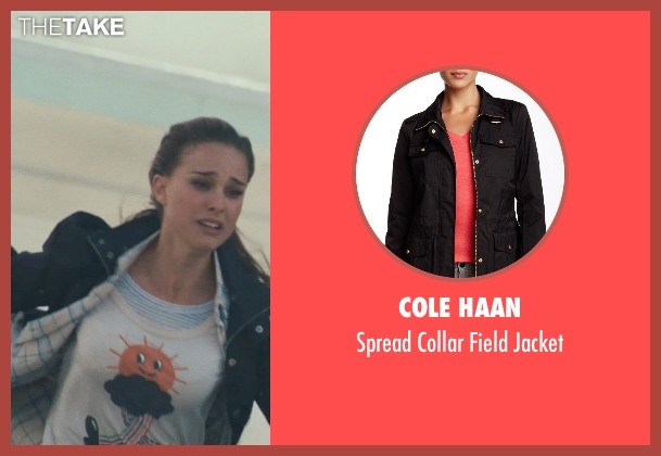 Cole Haan black jacket from Thor seen with Natalie Portman (Jane Foster)