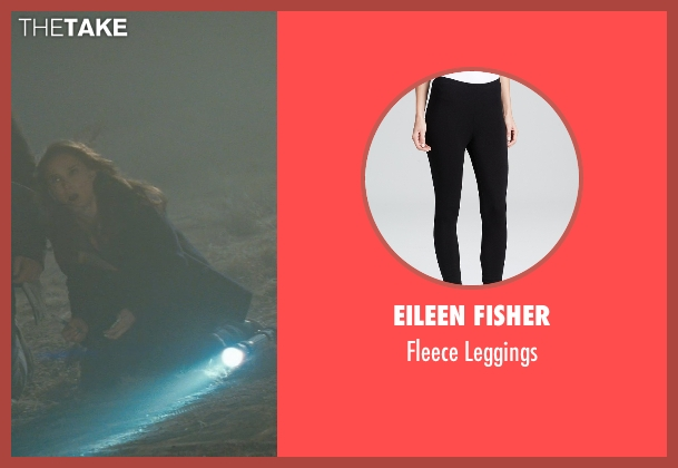 Eileen Fisher black leggings from Thor seen with Natalie Portman (Jane Foster)