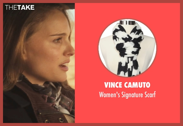 Vince Camuto black scarf from Thor seen with Natalie Portman (Jane Foster)