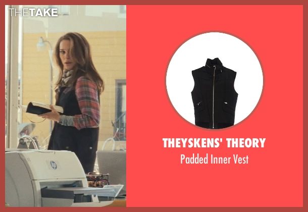 Theyskens' Theory black vest from Thor seen with Natalie Portman (Jane Foster)