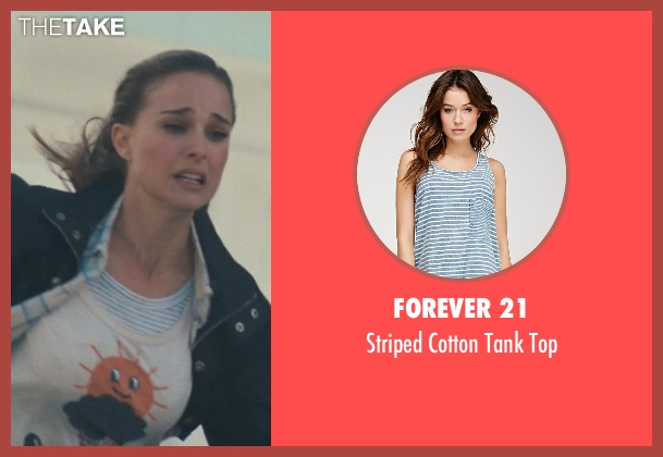 Forever 21 blue top from Thor seen with Natalie Portman (Jane Foster)