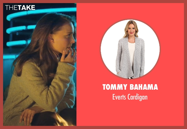 Tommy Bahama gray cardigan from Thor seen with Natalie Portman (Jane Foster)