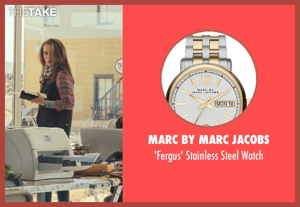 Marc by Marc Jacobs silver watch from Thor seen with Natalie Portman (Jane Foster)
