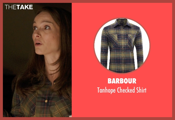 Barbour green shirt from Thor: The Dark World seen with Natalie Portman (Jane Foster)