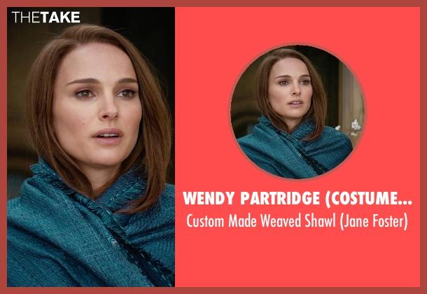 Wendy Partridge (Costume Designer) shawl from Thor: The Dark World seen with Natalie Portman (Jane Foster)