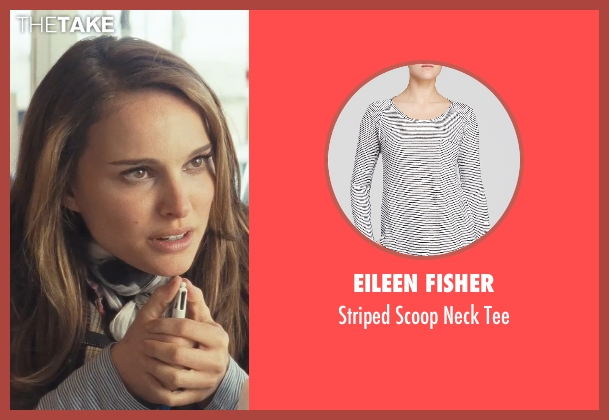 Eileen Fisher white tee from Thor seen with Natalie Portman (Jane Foster)