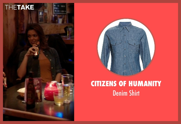 Citizens Of Humanity blue shirt from Quantico seen with Natalie Vasquez (Anabelle Acosta)