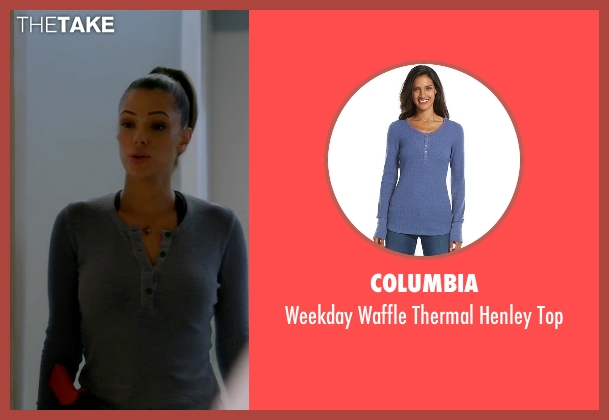 Columbia blue top from Quantico seen with Natalie Vasquez (Anabelle Acosta)