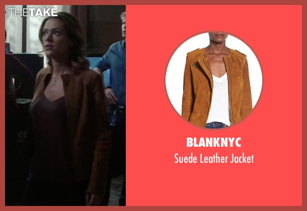 BlankNYC brown jacket from Quantico seen with Natalie Vasquez (Anabelle Acosta)