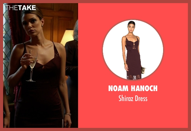 Noam Hanoch purple dress from Quantico seen with Natalie Vasquez (Anabelle Acosta)