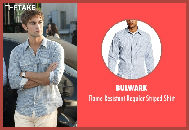 Bulwark blue shirt from Gossip Girl seen with Nate Archibald (Chace Crawford)