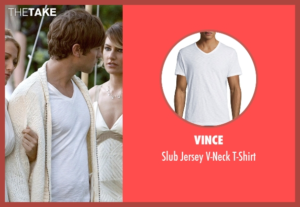Vince white t-shirt from Gossip Girl seen with Nate Archibald (Chace Crawford)