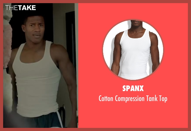 SPANX white top from Beyond the Lights seen with Nate Parker (Kaz Nicol)
