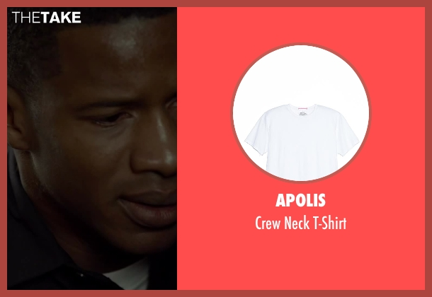 Apolis white t-shirt from Beyond the Lights seen with Nate Parker (Kaz Nicol)