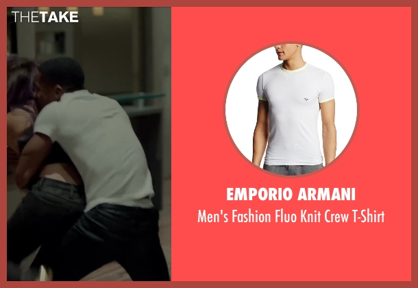 Emporio Armani white t-shirt from Beyond the Lights seen with Nate Parker (Kaz Nicol)