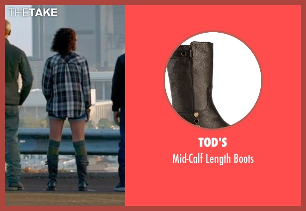 Tod's black boots from Furious 7 seen with Nathalie Emmanuel (Ramsey)