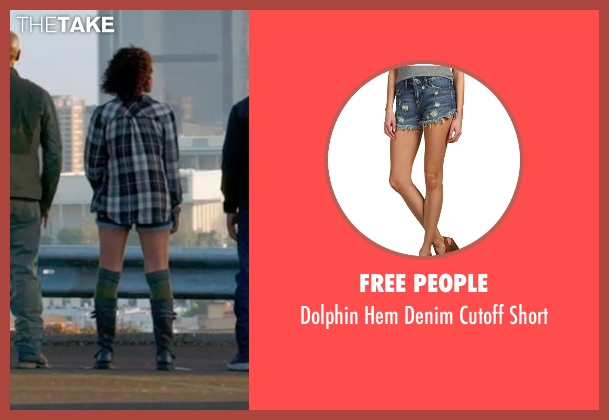 Free People blue short from Furious 7 seen with Nathalie Emmanuel (Ramsey)