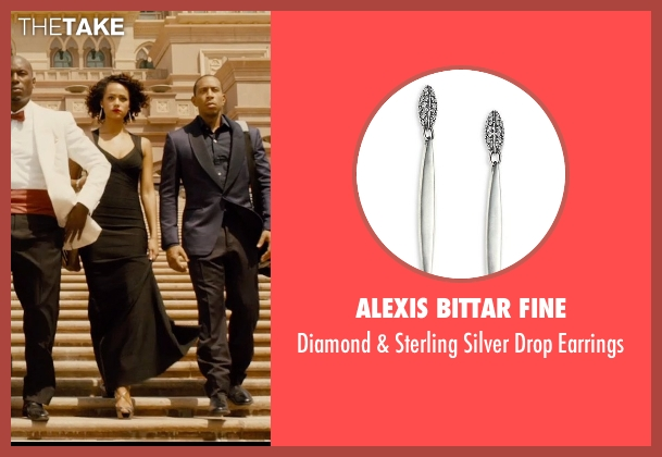 Alexis Bittar Fine silver earrings from Furious 7 seen with Nathalie Emmanuel (Ramsey)