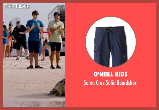 O'Neill Kids blue boardshort from Dolphin Tale 2 seen with Nathan Gamble (Sawyer Nelson)