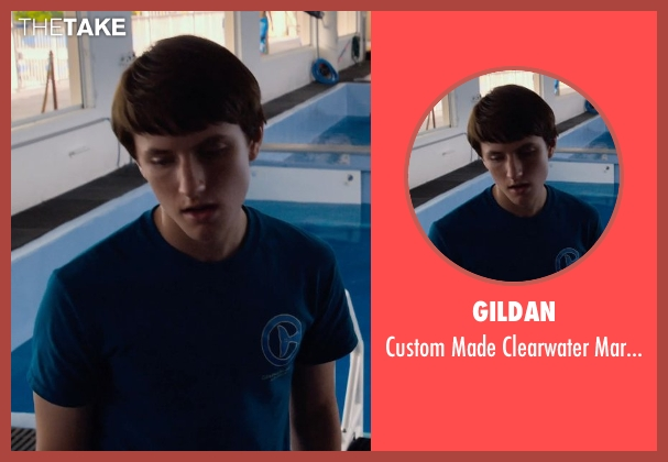 Gildan blue shirt from Dolphin Tale 2 seen with Nathan Gamble (Sawyer Nelson)
