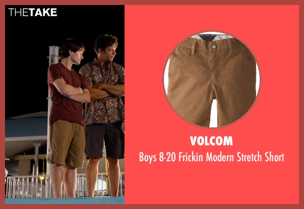 Volcom brown short from Dolphin Tale 2 seen with Nathan Gamble (Sawyer Nelson)