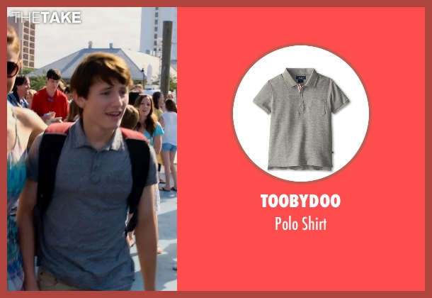 Toobydoo gray shirt from Dolphin Tale 2 seen with Nathan Gamble (Sawyer Nelson)