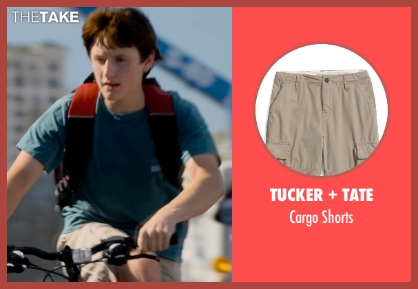 Tucker + Tate gray shorts from Dolphin Tale 2 seen with Nathan Gamble (Sawyer Nelson)
